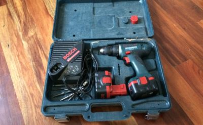cordless drill in carrying case