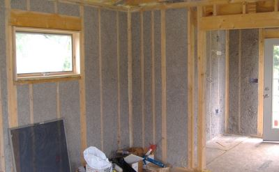 spray insulation finished