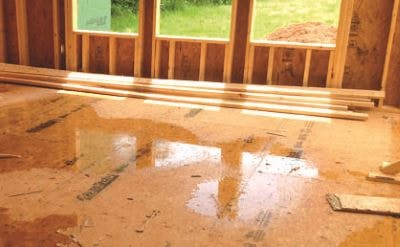 wet advantech subfloor
