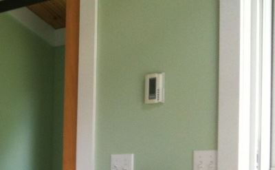 programmable thermostat installed